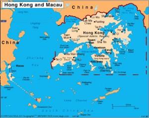 Carte de Hong Kong - Macau
