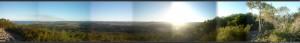"""Panorama, """"au sommet du Mont Coolum"""""""
