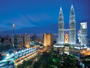 Kuala Lumpur de nuit (Malaisie)
